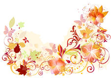 Flourish design from colorful vector elements. Flourish design ideal for greeting cards and backgrounds Royalty Free Stock Image