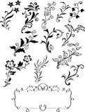 Flourish design elements collection. Illustration of flourish design elements collection royalty free illustration