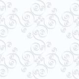Flourish diagonal de papier de spirales de Quilling Images libres de droits