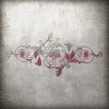 Flourish do Grunge imagem de stock royalty free