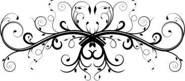 Flourish doble de la vid Imagen de archivo libre de regalías
