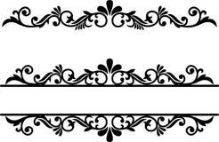 Flourish Element, Dividers Line, Ornamental Border, Fancy Underline. Split Monogram frame Vector Card Invitation Elements Victorian Grunge Calligraphy Wedding royalty free illustration