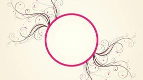 Flourish floral de la vid que crece en el fondo blanco ilustración del vector