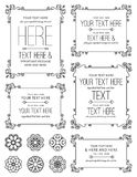 Flourish Floral Frames & Elements Royalty Free Stock Images
