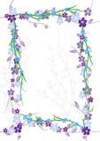 Flourish Frame_eps das flores Imagem de Stock