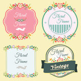 Flourish Frame. Several badge or frame in floral theme Stock Photos