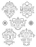 Flourish Frames and Labels Two Stock Photography