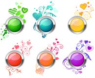 Flourish glossy buttons Stock Photo