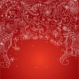 Flourish greeting card Stock Photography