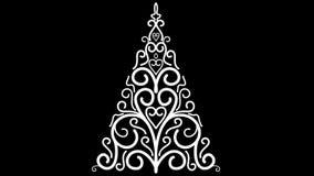 Flourish growth christmas tree stock footage
