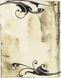 Flourish Grunge. Beautiful flourishes atop a stained grunge backdrop royalty free illustration
