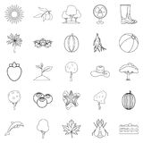Flourish icons set, outline style. Flourish icons set. Outline set of 25 flourish vector icons for web isolated on white background Stock Image