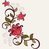 Flourish invitation card. Royalty Free Stock Image
