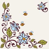 Flourish invitation card. Floral background. Flourish invitation card vector illustration