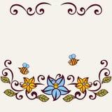 Flourish invitation card. Royalty Free Stock Photo