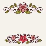 Flourish invitation card. Stock Images