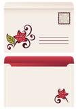 Flourish invitation card. Stock Photography