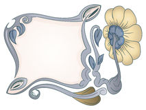 Flourish ornamental frame background isolated on Royalty Free Stock Photos