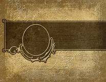 Flourish panel. Elegant flourish panel with grunge and extra bits and pieces stock illustration