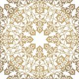 Flourish pattern. Floral seamless arabic mandala flower ornament. Flourish seamless pattern. Abstract floral geometric background. Fantastic flowers motif stock illustration