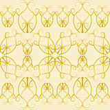 Flourish pattern in gold in a square format Royalty Free Stock Images
