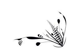 Flourish pflanzt Schwarzes Stockbilder