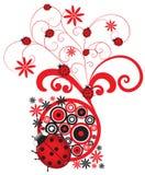 Flourish rojo del Ladybug Fotos de archivo libres de regalías