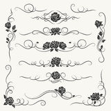 Flourish roses decorative ornaments stock illustration