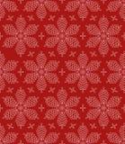 Flourish-Schneeflocken-nahtloses Muster Lizenzfreie Stockbilder