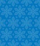 Flourish-Schneeflocken-nahtloses Muster Lizenzfreies Stockbild