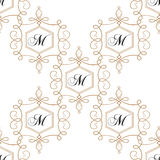 Flourish seamless pattern in light colors Royalty Free Stock Photo