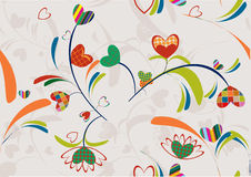 Flourish seamless wallpaper Stock Images