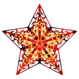 Flourish Star orange Stock Photos