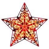 Flourish Star orange. Big star made of various patterns Stock Photos