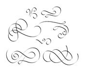 Flourish swirl is vintage vector elements royalty free stock images