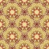 Flourish tiled pattern. Abstract floral geometric seamless orien. Flourish seamless pattern. Abstract floral geometric background. Fantastic flowers motif stock illustration