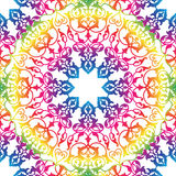 Flourish tiled pattern. Abstract floral geometric seamless orien. Abstract flourish seamless pattern Floral multicolor mandala ornamental texture. Stylish vector illustration