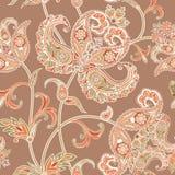 Flourish tiled pattern. Floral oriental ethnic background. Arabi Stock Photo