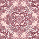 Flourish tiled pattern set. Abstract floral geometric seamless o Royalty Free Stock Images