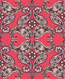 Flourish tiled pattern set. Abstract floral geometric seamless o. Flourish tiled pattern. Abstract floral geometric seamless oriental background. Indian fabric vector illustration