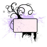 Flourish with tree. A grungy decorative vignettte with stylized tree Royalty Free Stock Images
