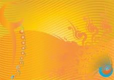 Flourish tribal de la esquina del color del diseño con los divisores Imagenes de archivo