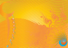 Flourish tribal do canto da cor do projeto com divisores Imagens de Stock