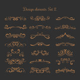 Flourish vector embellishments. Flourishes filigree calligraphic elegant swirls elements. Vintage delicate elements for tattoo illustration stock illustration