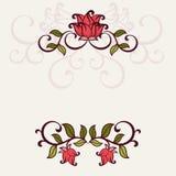 Flourisheinladungskarte. Stockbilder