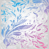 Flourishes Background, Floral Pattern, Vector Illu Royalty Free Stock Images