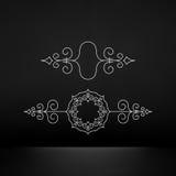 Flourishes Calligraphic Frame. Retro Design for Invitations, Stock Photos