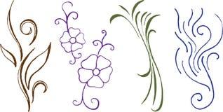Flourishes cobertos mão Ilustração Royalty Free