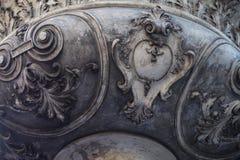 Flourishes découpés dans la pierre Photographie stock