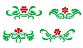 Flourishes decorations Royalty Free Stock Images